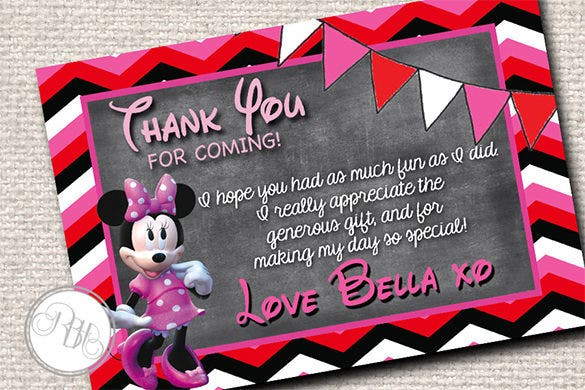 15  mickey mouse thank you cards
