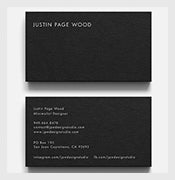 Wonderful-PSD-Calling-Card