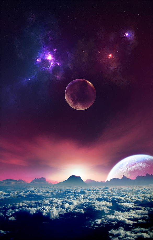 wonderful space background free download