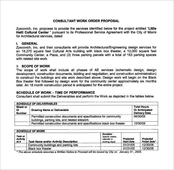Scope Of Work Template This Statement Of Work Template Focuses On