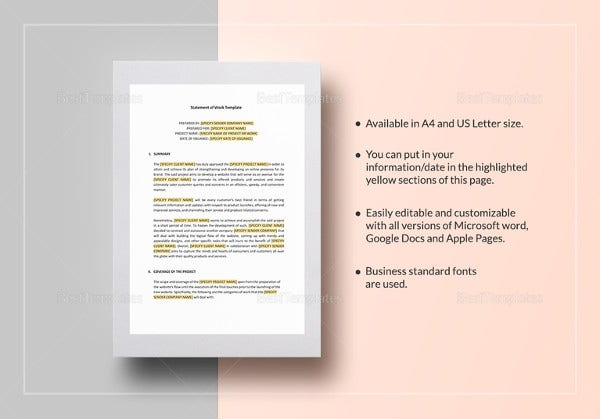 statement templates 30 free word excel pdf indesign documents