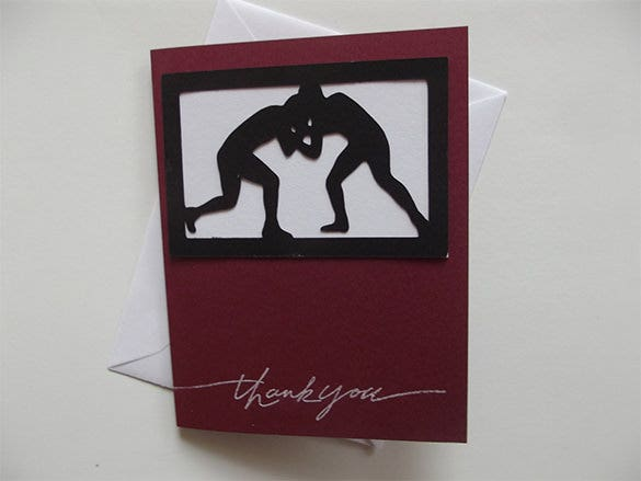 wrestling thank you card
