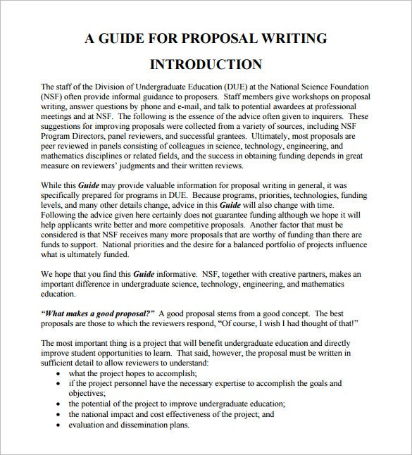 writing proposal format download