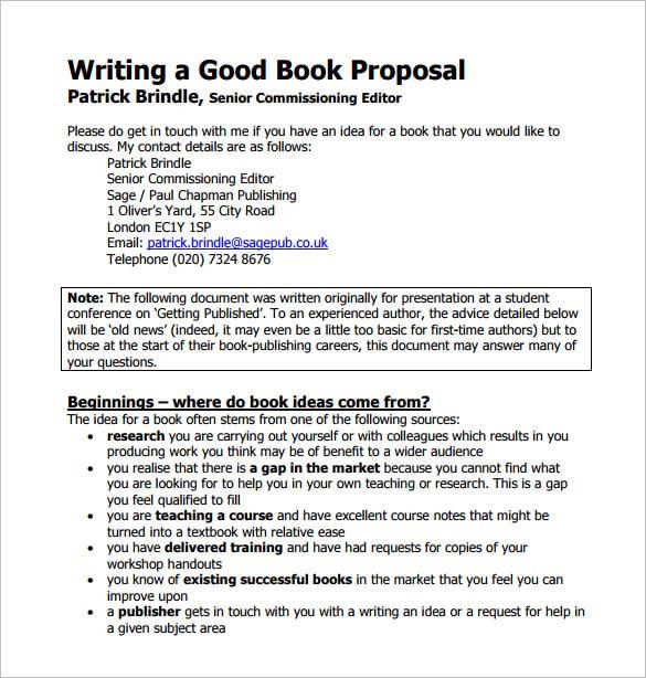 writing a good proposal