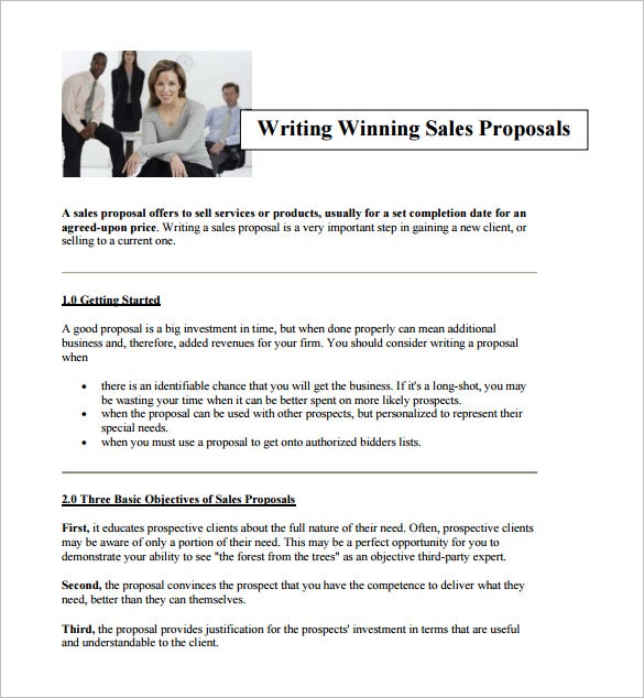 writing a sales proposal pdf download