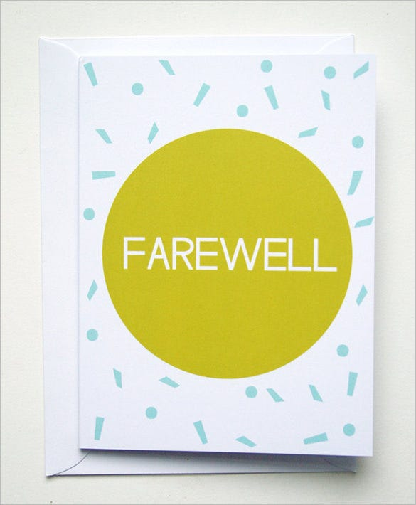 Farewell Card Template 25 Free Printable Word PDF PSD EPS