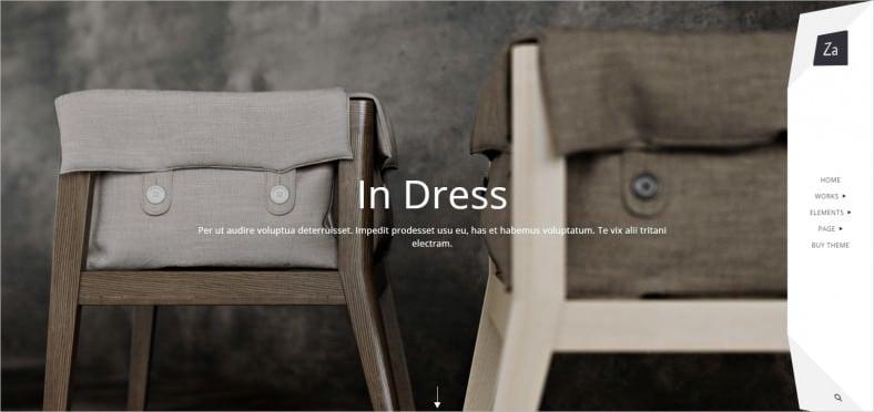 za creative fashion portfolio wordpress theme 788x372
