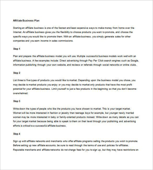 marketing plan for business plan