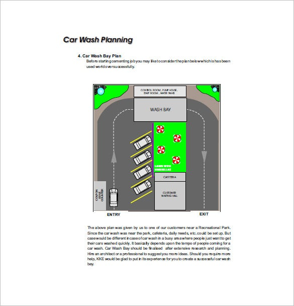 Car Wash Business Plan Sample