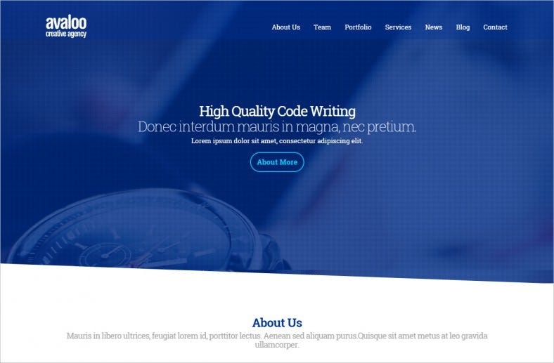 One Page Creative Advertising Agency WP Theme