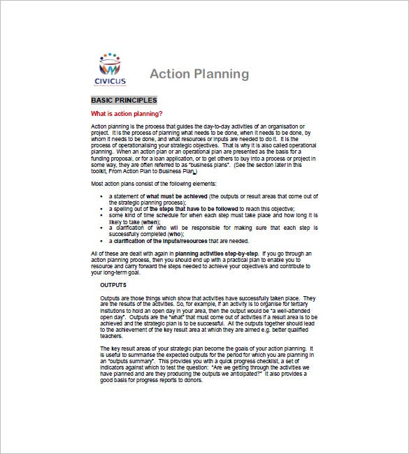 Business Action Plan Template – 6+ Free Word, Excel, Pdf Format