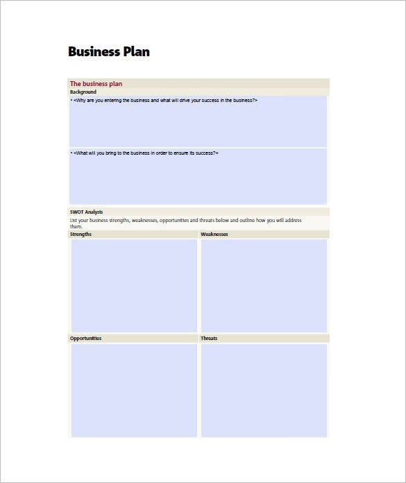 Small Business Plan Template 18 Word Excel Pdf Google