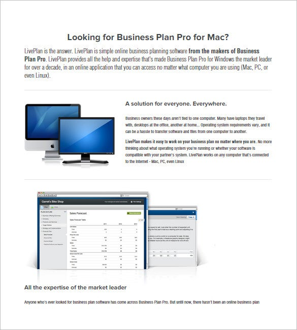 11 Top Business Plan Maker Tools Software Free – Mac Business Plan