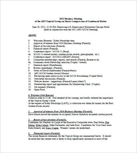 Business meeting minutes template 12 free sample example format church business meeting minutes template flashek
