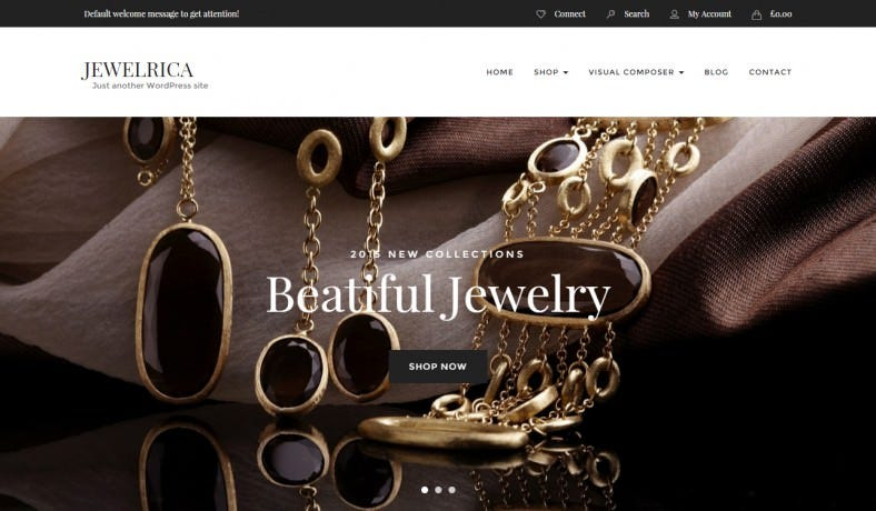 eCommerce WordPress Theme for Jewelry Shop