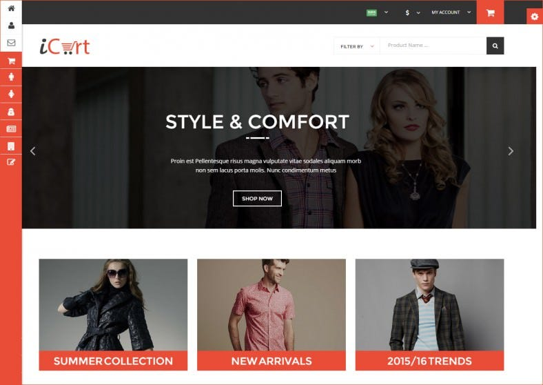 eCommerece HTML5 Responsive Shop & Store Template