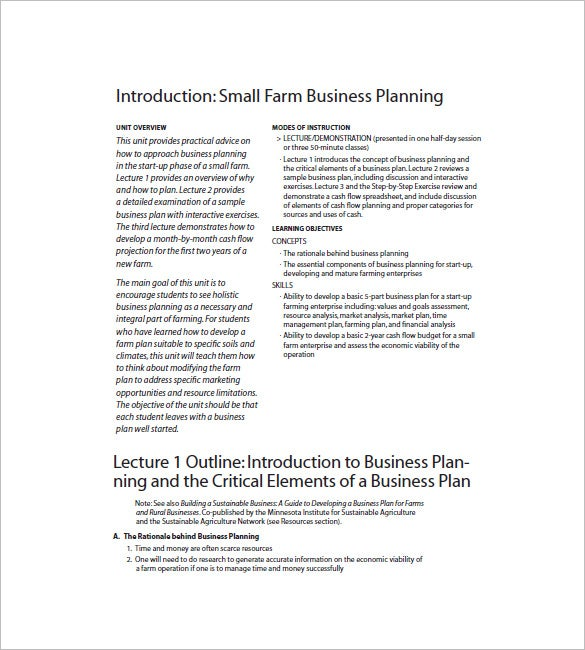 Small Business Plan Template – 12+ Free Word, Excel PDF Format ...