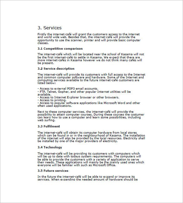 Cafe business plan template 14 free sample example format sample internet cafe business plan cheaphphosting Choice Image
