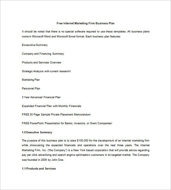 Marketing Business Plan Template Free Word Excel PDF Format - Free marketing business plan template