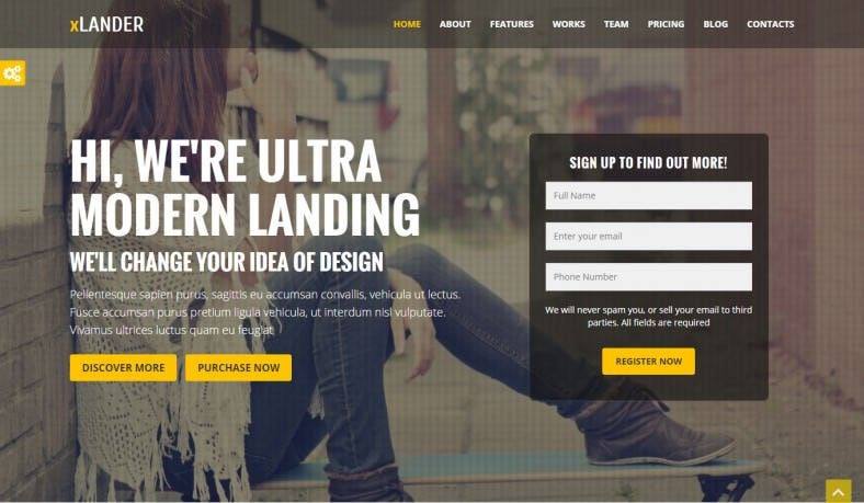 12 jquery website templates themes free premium for Jquery landing page templates