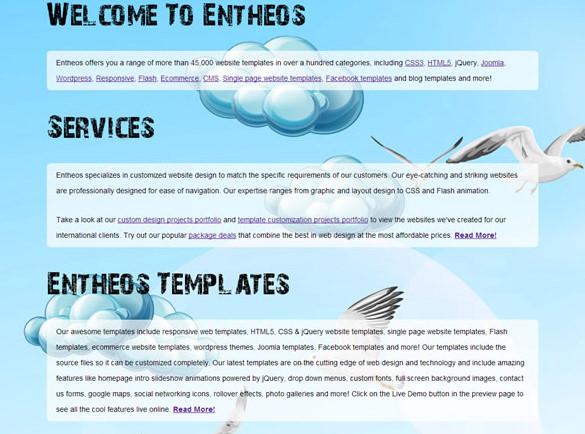 jquery parallax scrolling website template