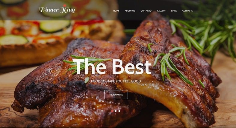 jQuery Responsive Website Template for Cafe & Restaurant