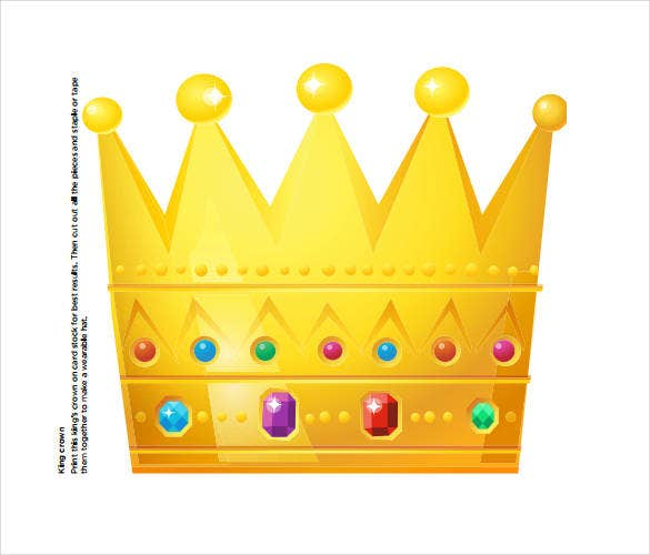 king-crown-template