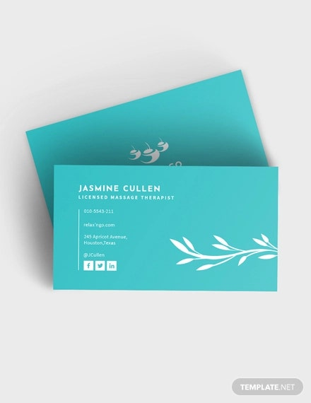 liscenesed massage therapist business card
