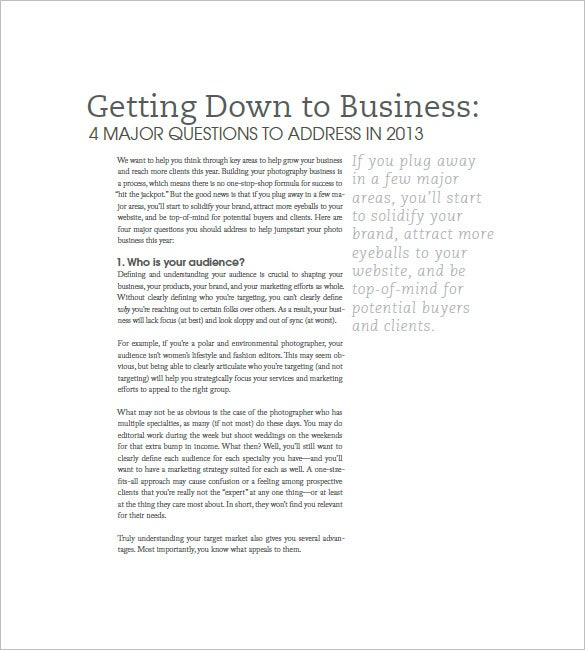 a business just departure pdf