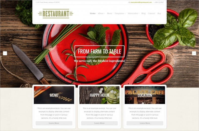 36+ Restaurant WordPress Themes & Templates | Free & Premium Templates