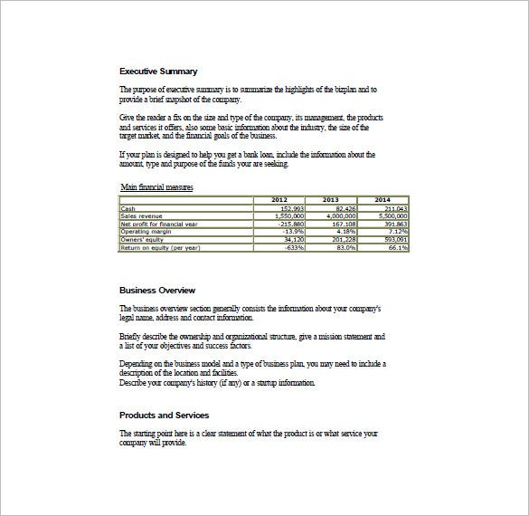 simple business plan template word  Simple Business Plan Template – 14  Free Word, Excel, PDF Format ...