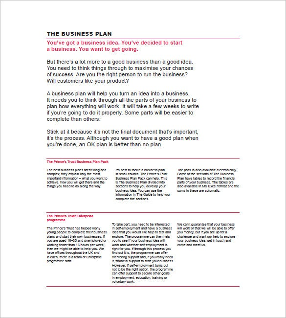 Simple Business Plan Template Free Word Excel PDF Format - Business planning templates free