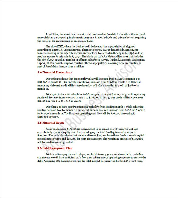 Cafe Business Plan Template 9 Free Sample Example Format – Sample Format of Business Proposal