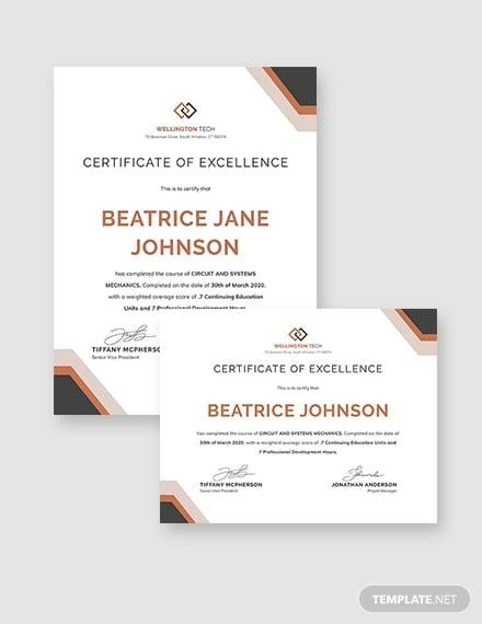 sompany training certificate
