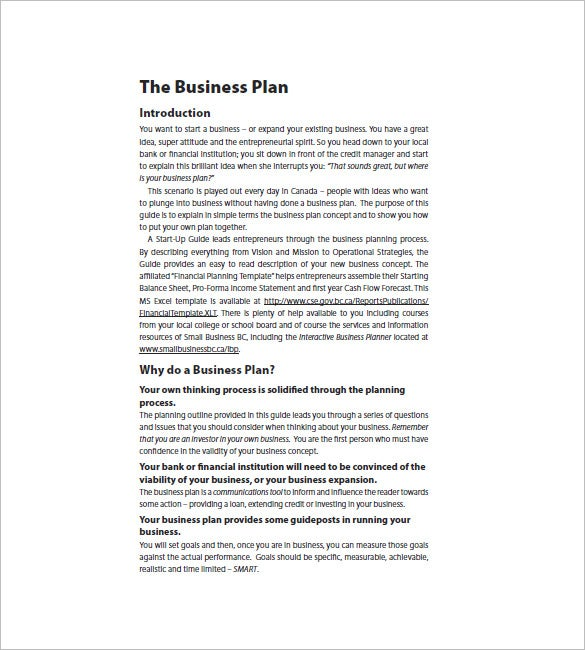 Startup Business Plan Template Free Word Excel PDF Format - Business plan for startup template