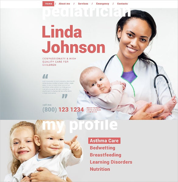 clean layout responsive pediatrician html5 website template