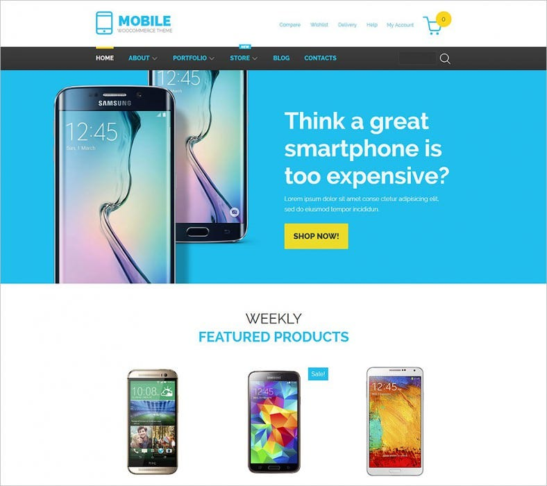 mobile technology woocommerce theme 788x700