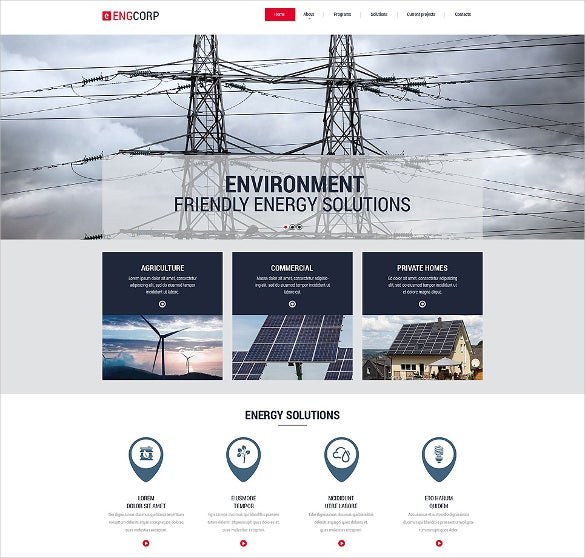 cool parallax effect industrial responsive html5 website template