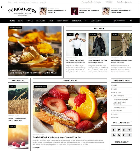 simple retina ready html5 css3 magazine website template