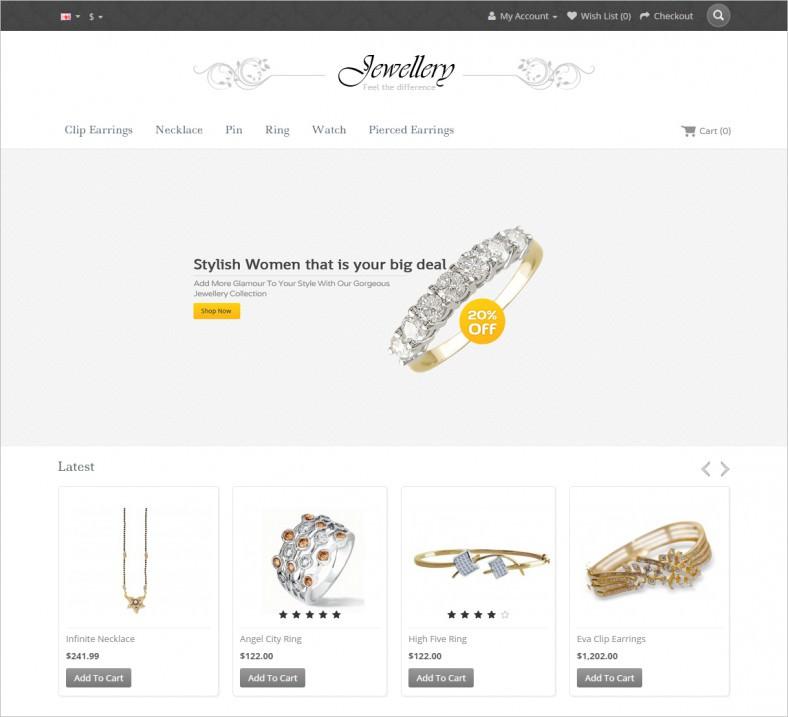 jewellery opencart responsive template 788x717