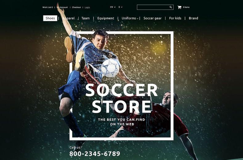 soccer shop opencart template 788x519