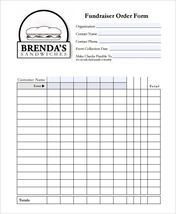 Exceptional Fundraiser Form Template Free In Fundraising Form Template