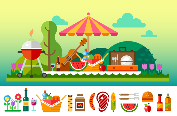 premium summer picnic background for you