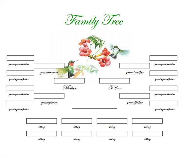 Free Family Tree Template Word Doc Acurnamedia