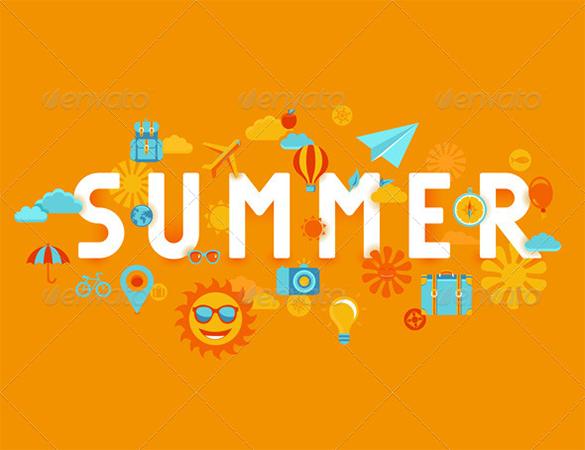 premium dynamic summer background