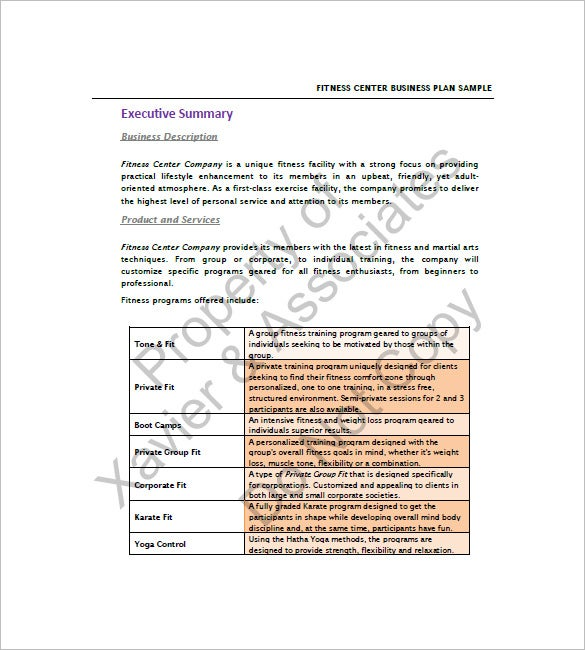 Gym business plan template 13 free sample example format gym business plan template free download flashek