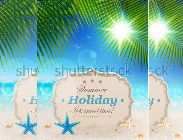 sample holiday palm card template download