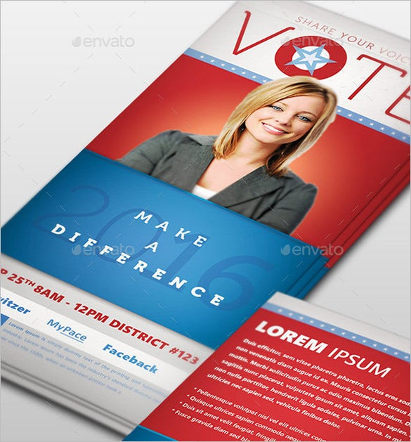 vote political photoshop palm card template
