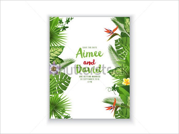 sample beautiful palm card template download
