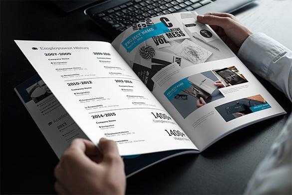 creative visual resume template downlaod